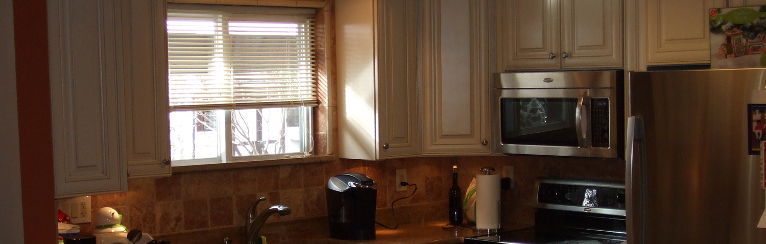 remodeled kitchen with new kitchen cabinets
